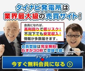 タイナビ発電所 土地付き太陽光発電