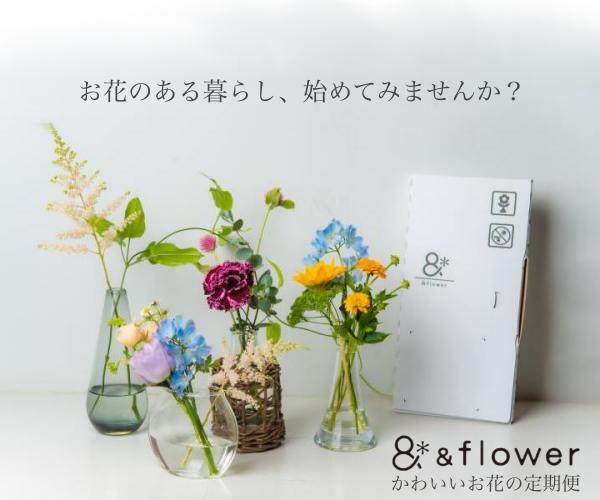 花のある暮らしをもっと身近に、続けやすく【&flowerのお花の定期便】定期便申込モニター